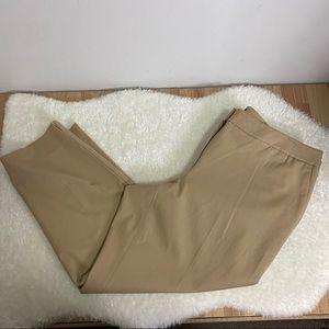 NWOT Talbots Tan Ankle Dress Pants Sz 16 W Petite